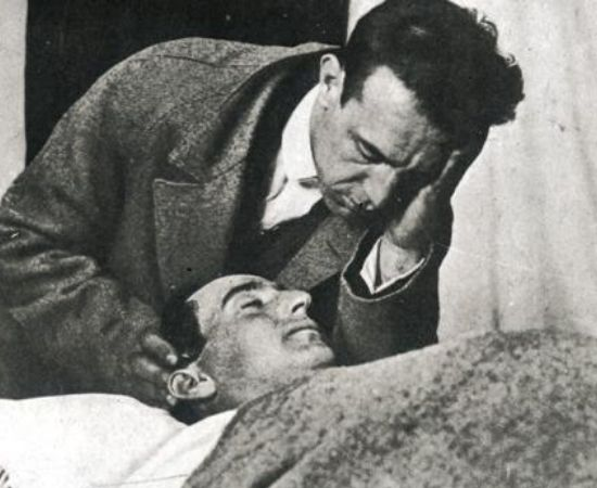 Ignacio Sánchez Mejías watches over the body of his friend, brother-in-law and partner Joselito